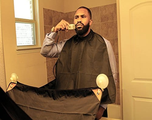 premium quality beard grooming cape by centaur grooming best ergonomic beard hair catcher mens. Black Bedroom Furniture Sets. Home Design Ideas