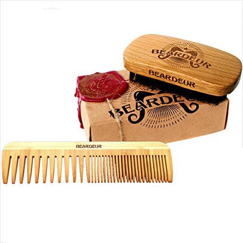 beardeur handcrafted boar bristle beard brush beard comb kit for mens beards hair shaving. Black Bedroom Furniture Sets. Home Design Ideas