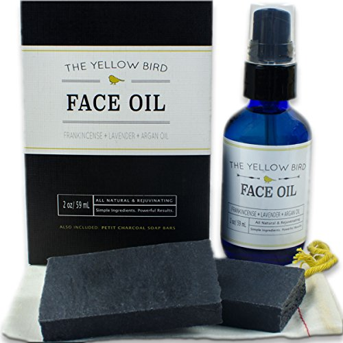 Charcoal Face Soap & Moisturizing Face Oil. Gentle Facial ...