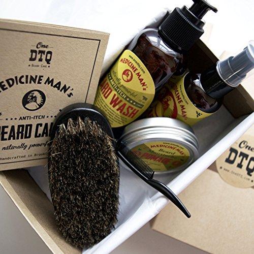medicine man 39 s anti itch beard grooming kit beard wash oil beard mustache pomade beard. Black Bedroom Furniture Sets. Home Design Ideas