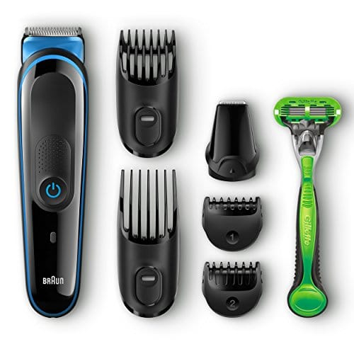 braun multi grooming kit mgk3040 7 in 1 hair beard trimmer for men gillette body razor. Black Bedroom Furniture Sets. Home Design Ideas