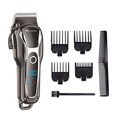 surker pro man s grooming haircut kit cordless hair clippers for men beard trimmer shaver. Black Bedroom Furniture Sets. Home Design Ideas