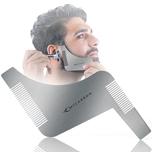 mycarbon beard trimming guide stainless steel beard shaping tool with comb for multiple beard. Black Bedroom Furniture Sets. Home Design Ideas