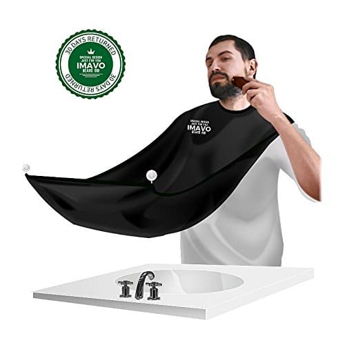shave apron bib catcher men 39 s facial hair beard bib shaving mirror with grooming cape apron. Black Bedroom Furniture Sets. Home Design Ideas