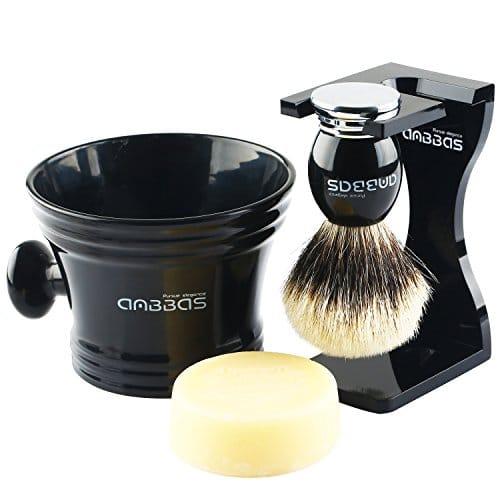 4in1 Shaving Set Anbbas Silvertip Badger Shaving Brush